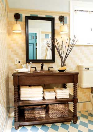 清凉夏日卫浴装修 简约享受美好时光