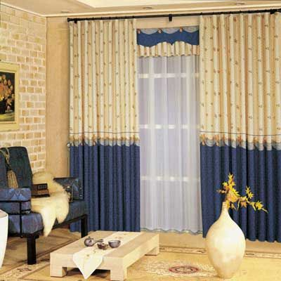 欧式客厅窗帘效果图大全