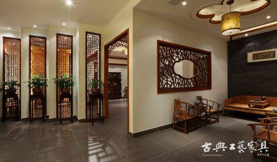 木制门窗镶嵌墙面,复原江南建筑风貌