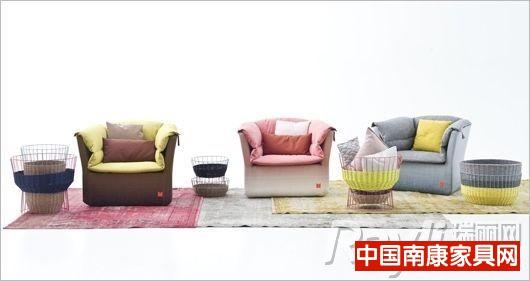 Moroso粉彩色沙发座椅