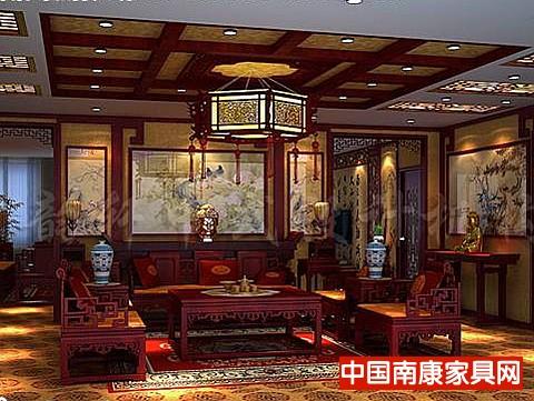11#豪华古典的展厅--红木家具是古典中式风格最;