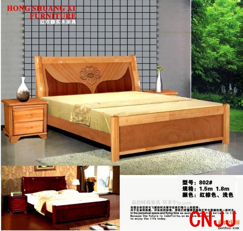 木头床设计图-实木床图片 10