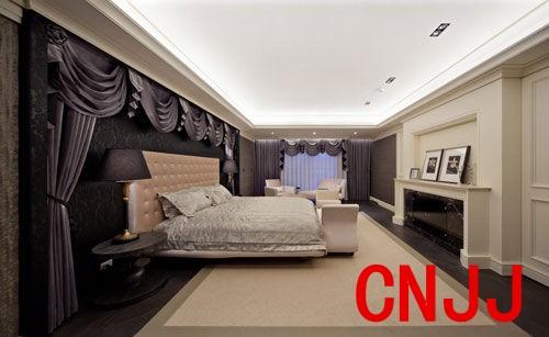 设计重点:主卧房背景墙